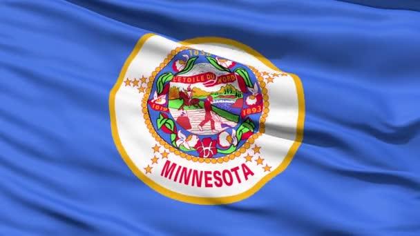 Waving Flag Of The US State of Minnesota