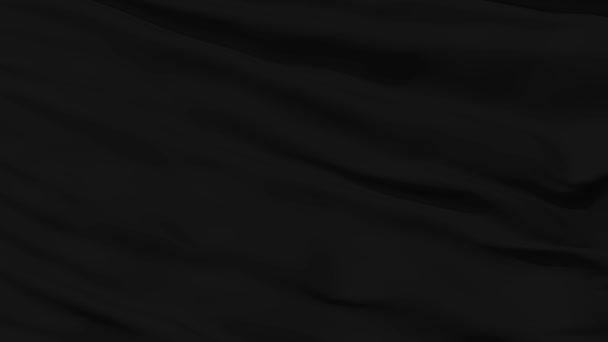 mává closeup prázdné černé vlajky