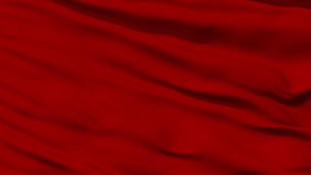 mává červenou prázdné vlajky closeup