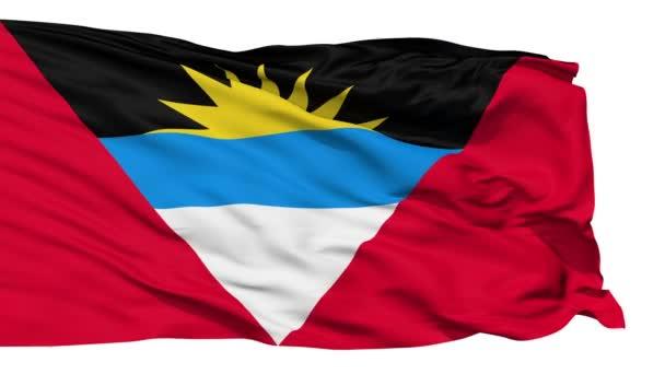 Waving national flag of Antigua and Barbuda