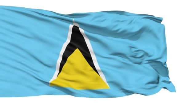 vlající vlajka svaté Lucie