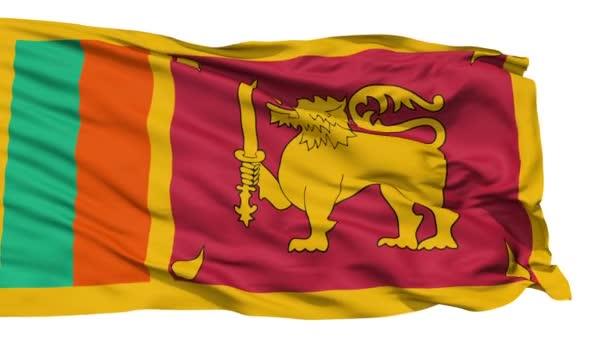 Waving national flag of Sri Lanka