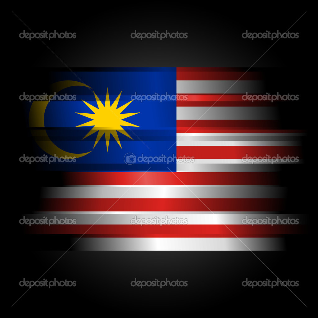 Abstract malaysia flag on black background stock photo for 3d wallpaper for home malaysia