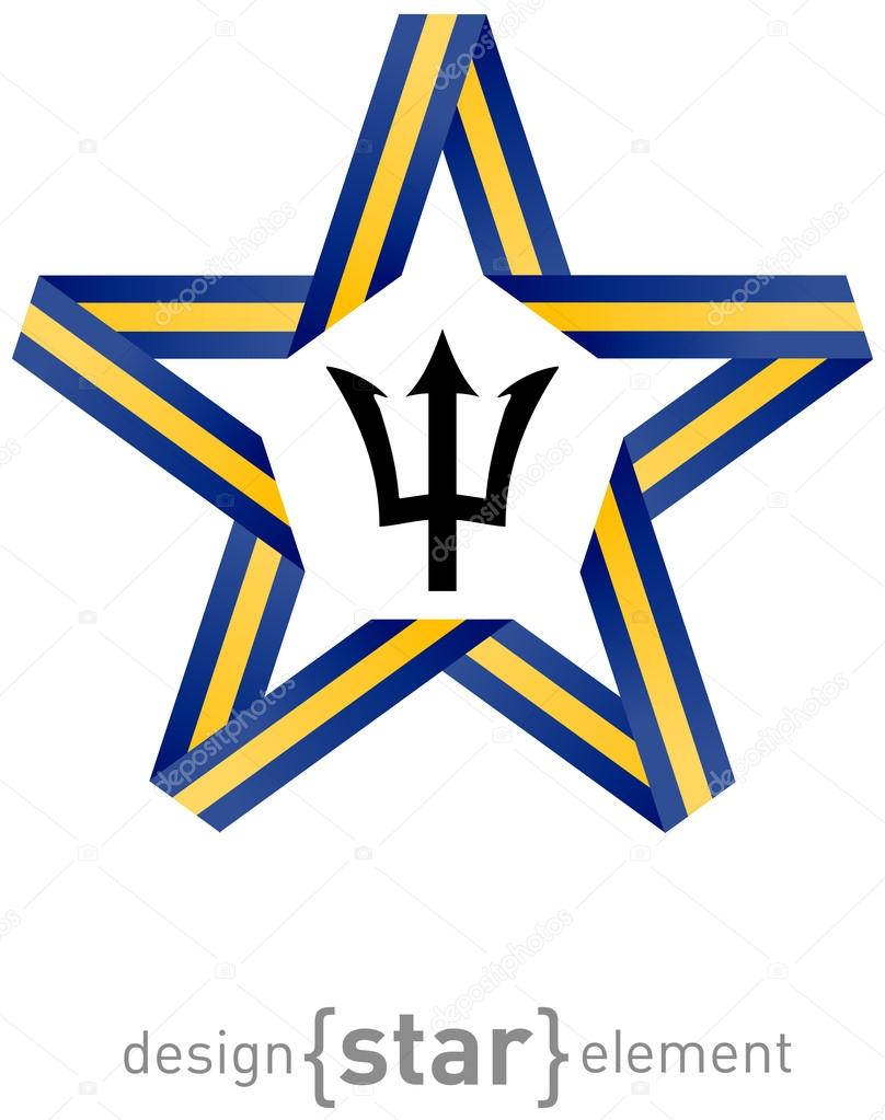 Star with flag of barbados colors and symbols design element star with flag of barbados colors and symbols design element stock photo biocorpaavc Choice Image