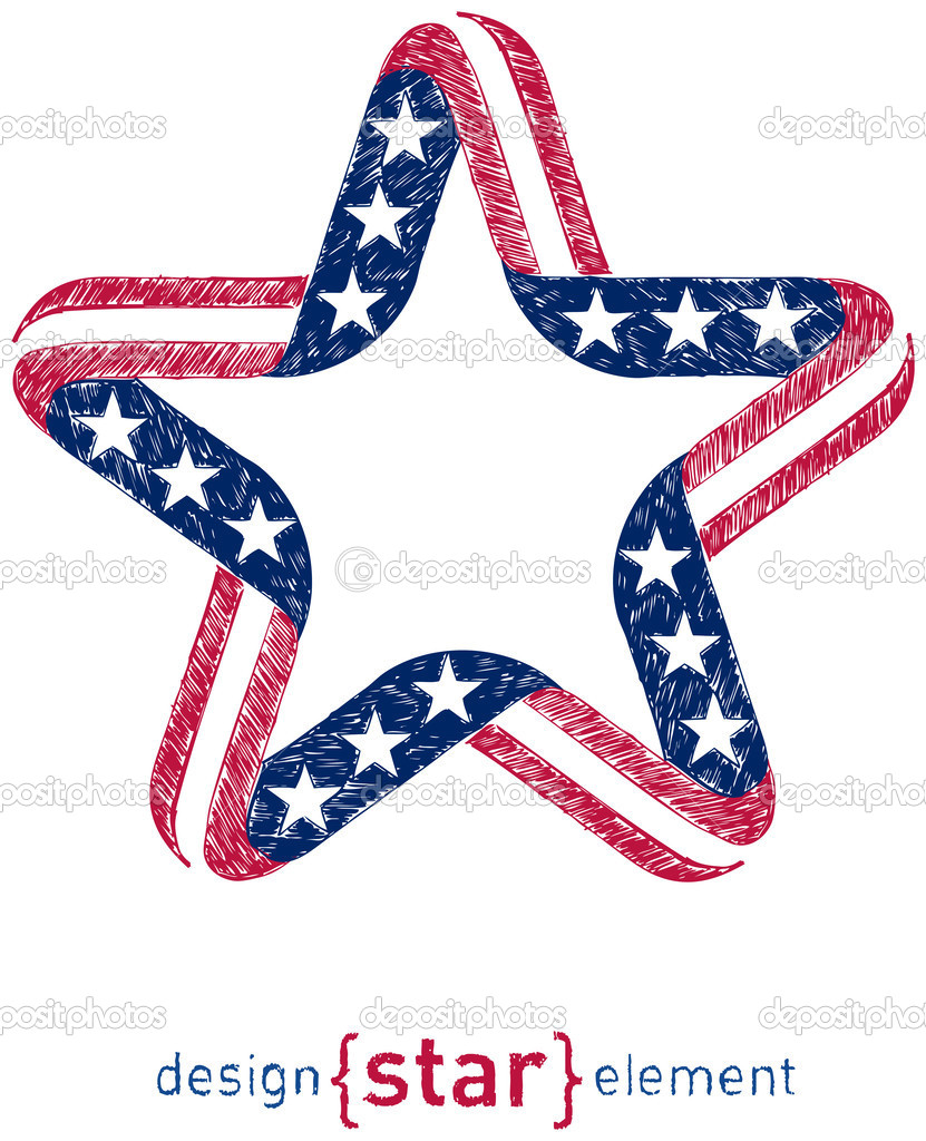 Hand draw star with american flag colors and symbols design elem hand draw star with american flag colors and symbols design elem stock photo biocorpaavc Choice Image