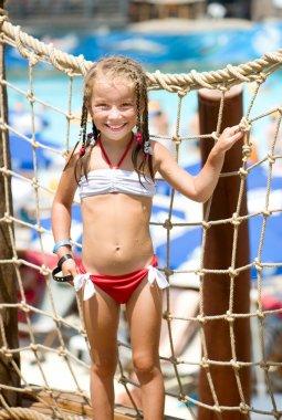 Little girl at aquapark