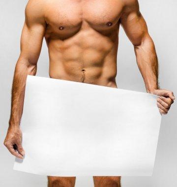 Naked muscular man
