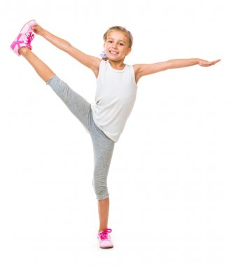 Girl doing exercises