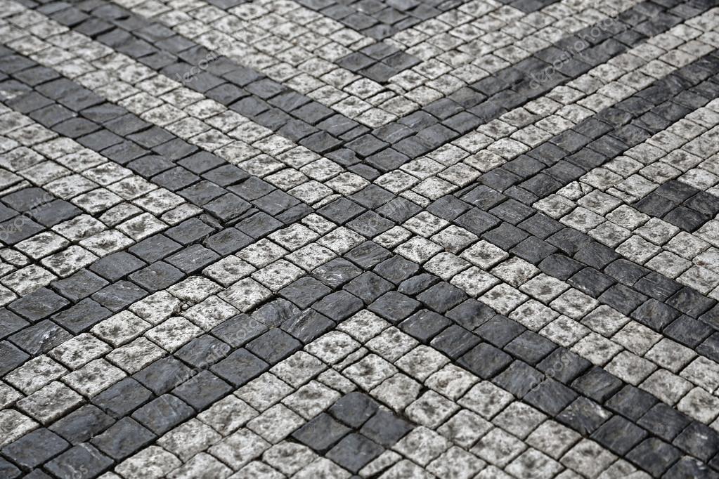pflastersteine die strae mit muster stockfoto - Pflastersteine Muster Bilder
