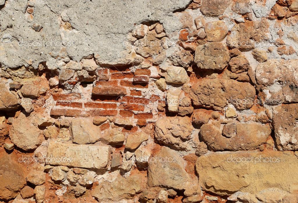 Vecchio muro di pietra e mattoni foto stock dink101 for Mattoni e pietra americani