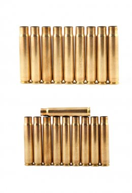 Gold bullet isolate on a white background stock vector