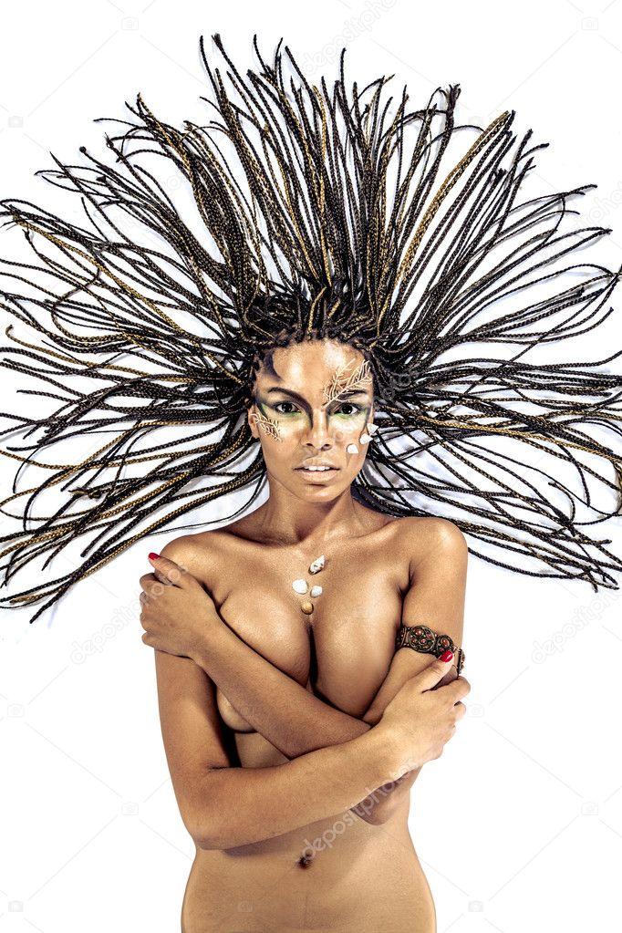 Afrikaanse naakte vrouw