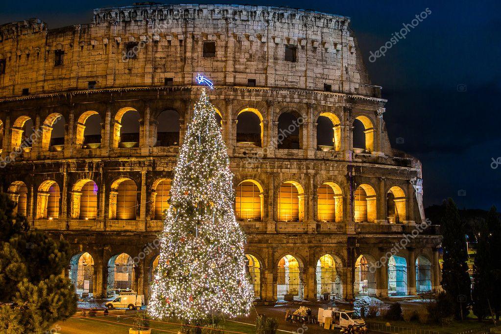 Weihnachten In Italien kolosseum von rom, italien auf weihnachten — stockfoto © bloodua