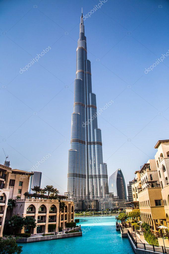 Kijk Op De Burj Khalifa Dubai Verenigde Arabische Emiraten S