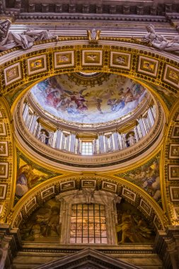 St. Peter's Basilica, St. Peter's Square, Vatican City. Indoor interior stock vector