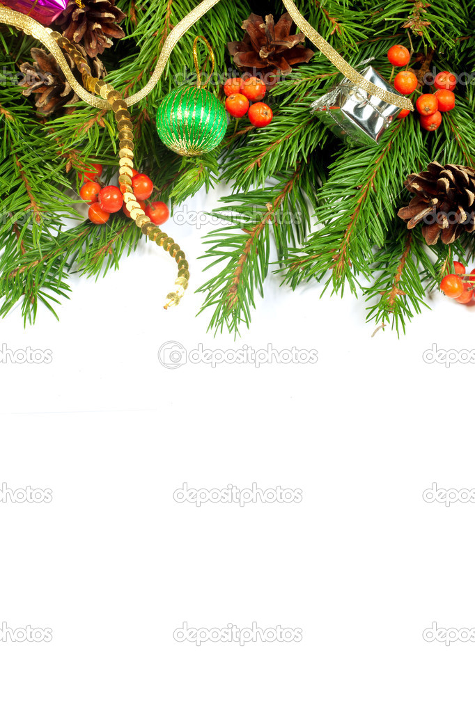 Weihnachten Hintergrund. Eva Rahmen — Stockfoto © bloodua #30927949