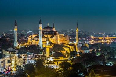 Ayasofya manzarasına akşam sophia İstanbul, Türkiye