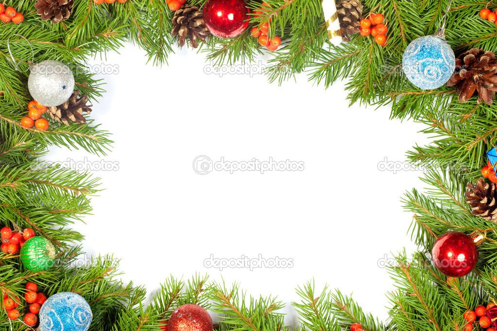 Weihnachten Hintergrund. Eva Rahmen — Stockfoto © bloodua #31777409