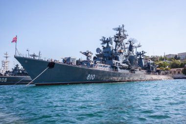 Russian warship in the Bay, Sevastopol