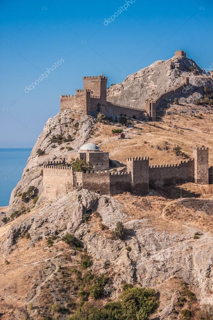 Ruins of The Genoa Fortress in Sudak, Crimea