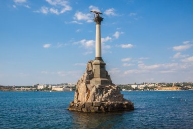 Monument to the scuttled ships in Sevastopol