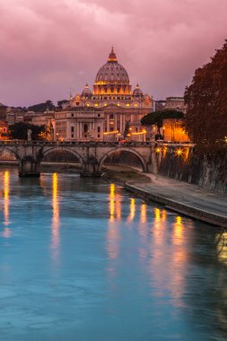 Vatican and river Tiber in Rome