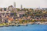 Istanbul panoramatický pohled od věže galata. Turecko