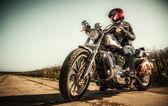 Fotografie motorkářka