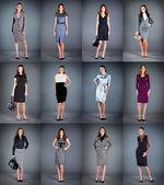 lány a különböző ruhák