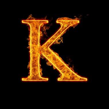 Fire alphabet letter K