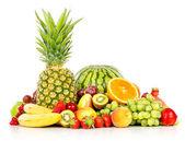 Fotografie Exotic fruits isolated on white