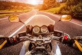 Fotografie motorkář first-person pohled