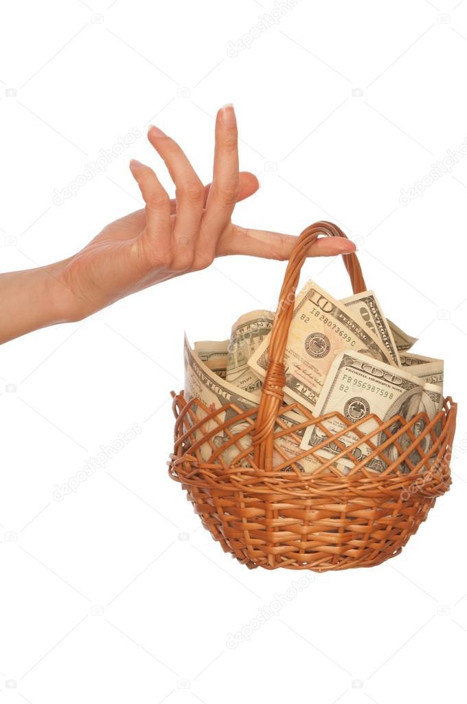 корзины с деньгами картинки что здесь можно