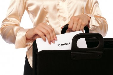 Suitcase with contracts
