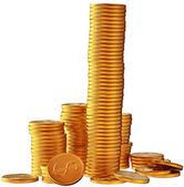Fotografie hromady zlata tolarových mincí