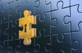 Utolsó arany bábu-ból fém puzzle kulcslyuk