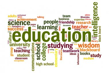 Education word cloud conceptual image stock vector
