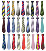 Photo Of a set of male business ties on a white background