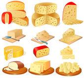 Fotografia insieme di tipi diversi di formaggio