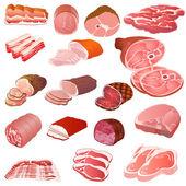 Fényképek készlet-ból különböző fajta-ból hús