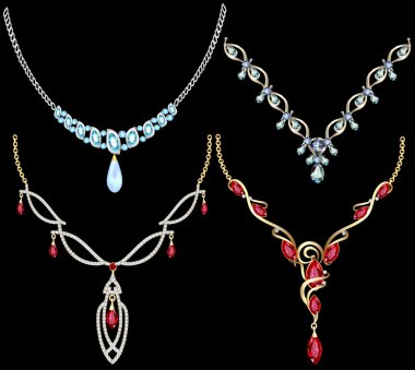 set of necklace women