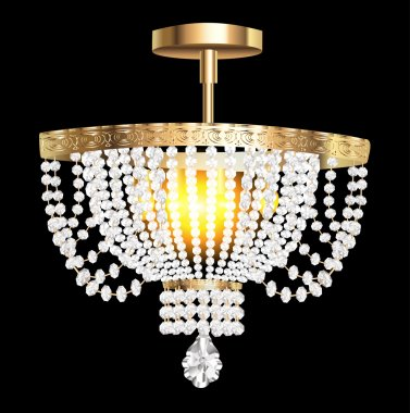 crystal chandelier with modern pendants