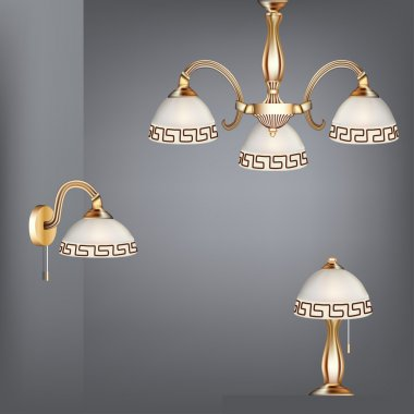 set table lamp chandelier and sconces in antique style
