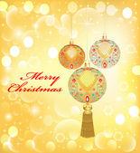 pozadí Vánoce s dekorativní koule a flitry
