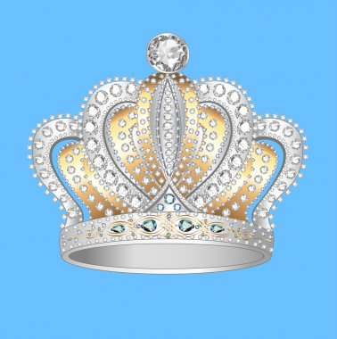 crown of gold silver and precious stones