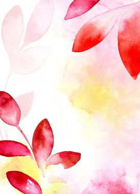 Red and yellow leaves background