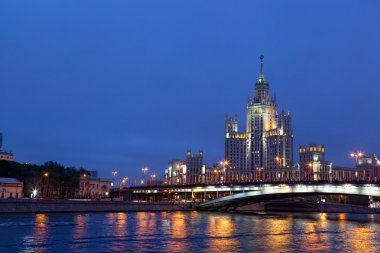 High-rise building on Kotelnicheskaya embankment in Moscow, Russia