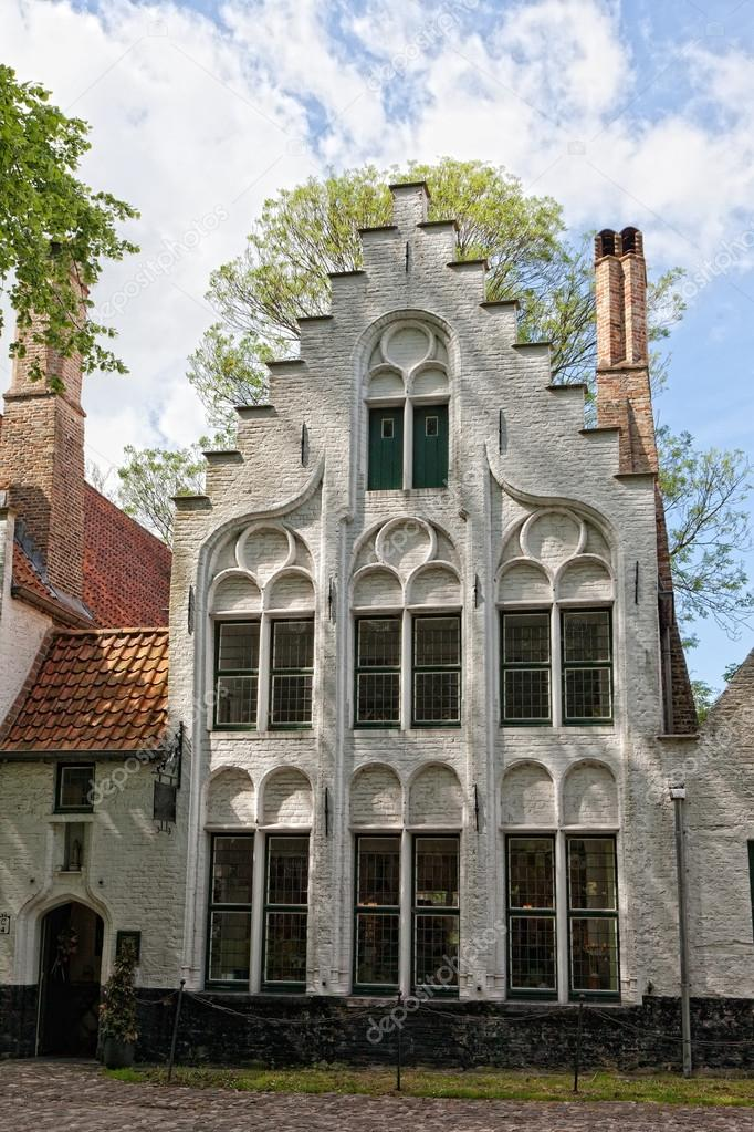 European small street with old brick houses bruges belgium stock photo lenorlux 13579075 - Small belgian houses brick ...