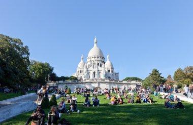 Sacre Coeur Basilica in summer day.