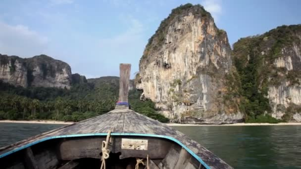 Thai boat - longtail floats to the coast